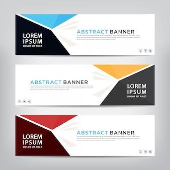 Conjunto de plantillas banner abstracto
