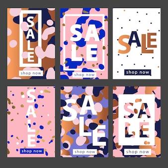 Conjunto de plantillas de banners móviles o redes sociales.