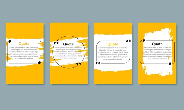 Conjunto de plantillas en blanco de marcos de cotización