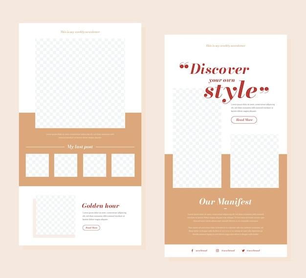 Conjunto de plantillas de correo electrónico de blogger
