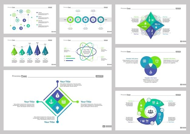 Conjunto de plantillas de diapositivas eight consulting