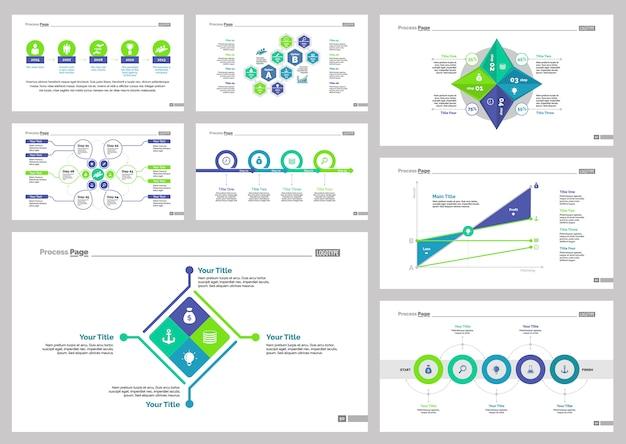 Conjunto de plantillas de diapositivas de ocho planes