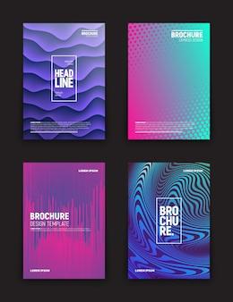 Conjunto de plantillas de diferentes folletos