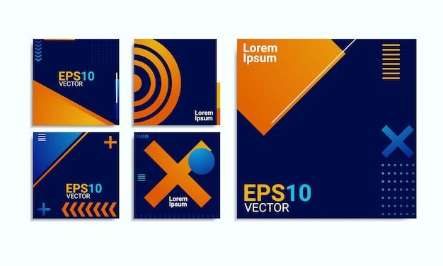 Conjunto de plantillas de diseño para alimentación y publicación de redes sociales.