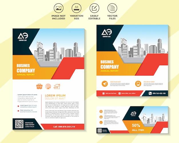 Conjunto de plantillas de diseño de negocios para redes de soluciones móviles de marketing digital