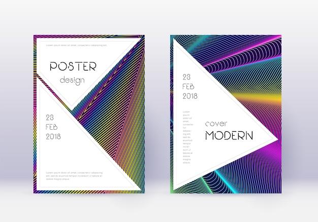 Conjunto de plantillas de diseño de portada con estilo