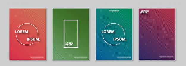Conjunto de plantillas de diseño de portada.