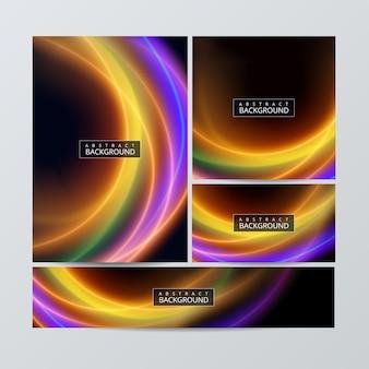 Conjunto de plantillas de folletos de papelería empresarial corporativa con elementos de infografía