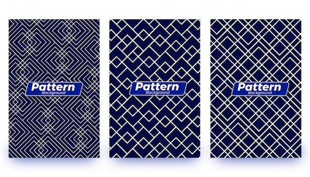Conjunto de plantillas de fondo patrón abstracto
