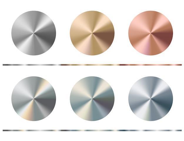 Conjunto de plantillas de gradiente de metal