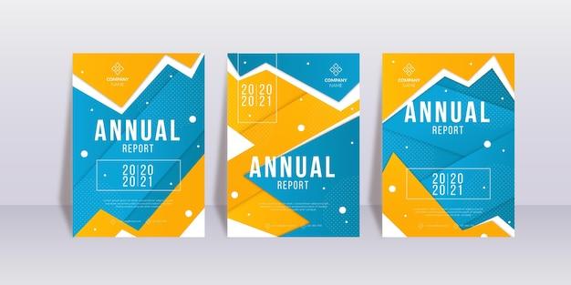 Conjunto de plantillas de informe anual abstracto 2020/2021