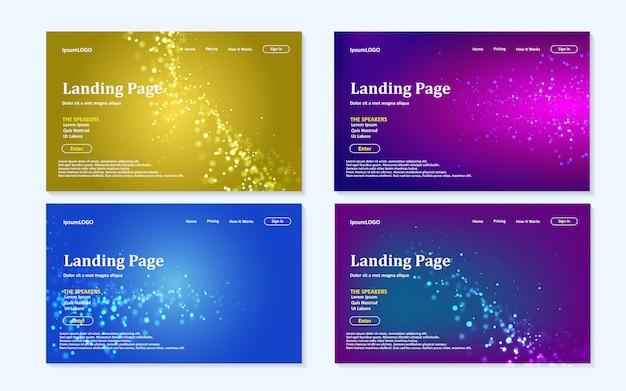 Conjunto de plantillas de landing page.