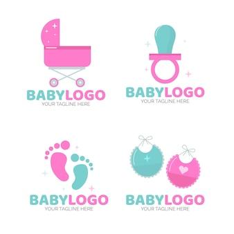 Conjunto de plantillas de logotipo de bebé