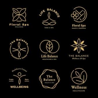 Conjunto de plantillas de logotipo de centro de salud