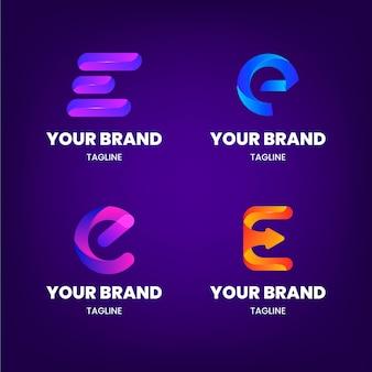 Conjunto de plantillas de logotipo degradado e