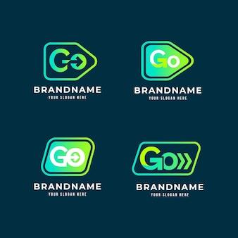 Conjunto de plantillas de logotipo degradado ir