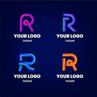 Conjunto de plantillas de logotipo degradado r