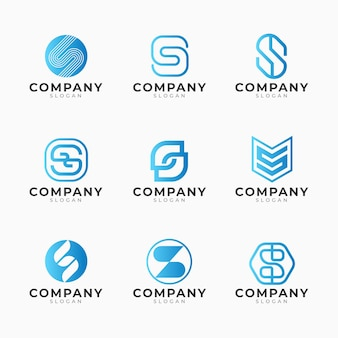 Conjunto de plantillas de logotipo degradado s