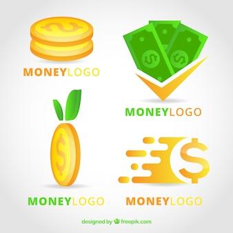 Conjunto de plantillas de logotipo de dinero