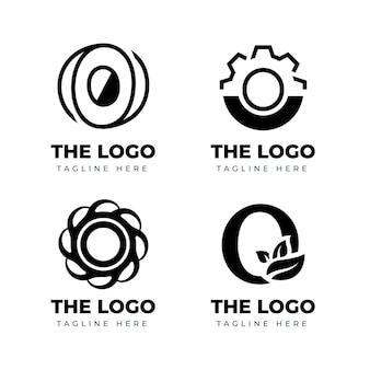 Conjunto de plantillas de logotipo de diseño plano o