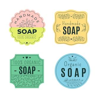 Conjunto de plantillas de logotipo de jabón