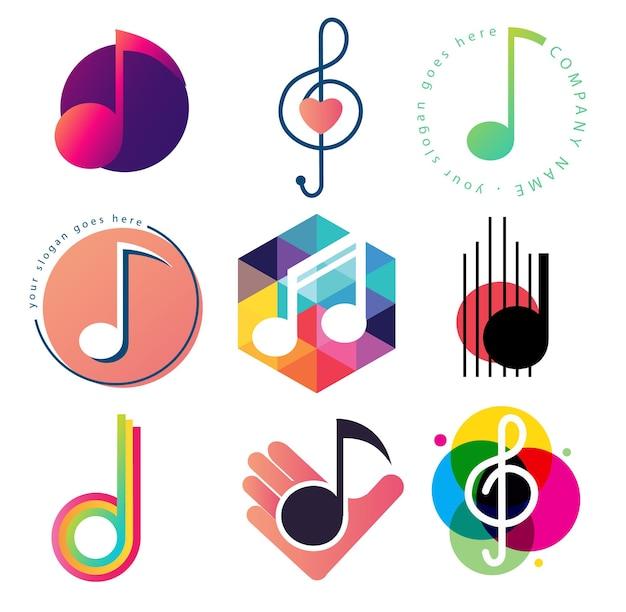 Conjunto de plantillas de logotipo de nota