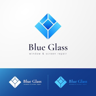 Conjunto de plantillas de logotipo de vidrio degradado