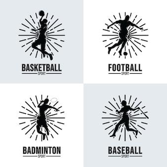 Conjunto de plantillas de logotipos deportivos