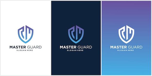Conjunto de plantillas de logotipos de guardias maestros