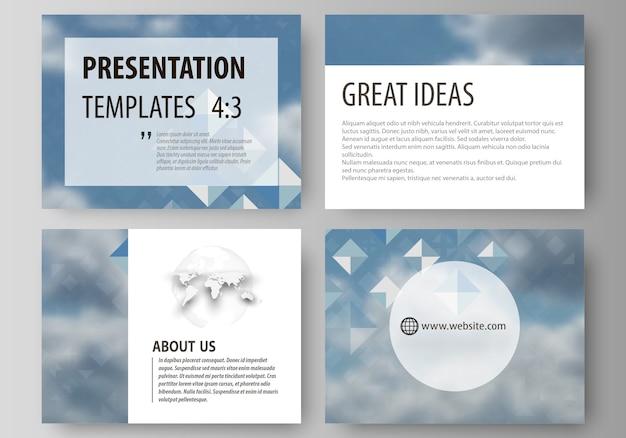 Conjunto de plantillas de negocio para diapositivas de presentación.