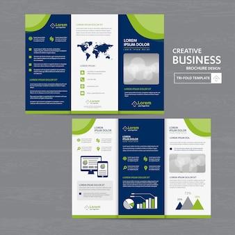 Conjunto de plantillas de negocios tríptico: folleto, diseño, pliegue, plantilla, tri, folleto, negocios, vector, diseño, folleto, resumen, ilustración, presentación, portada, folleto, impresión, maga