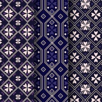 Conjunto de plantillas de patrón de songket