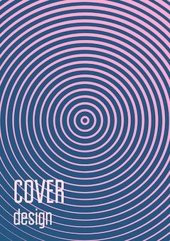 Conjunto de plantillas de portada degradada. diseño minimalista de moda con medios tonos. plantilla de portada degradada futurista