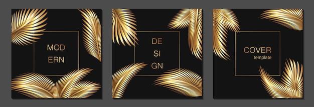 Conjunto de plantillas de portada de lujo. cubierta para pancartas, pancartas, volantes, presentaciones y tarjetas