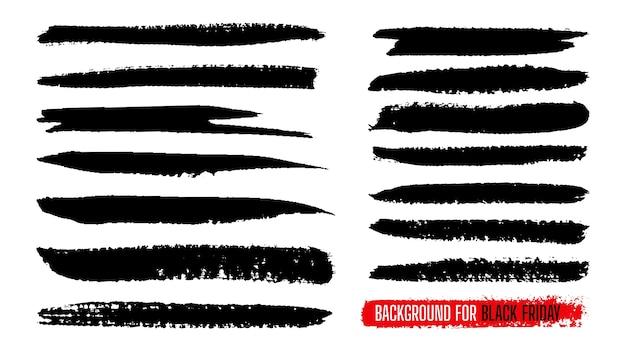 Conjunto de plantillas de rayas de pintura de venta de viernes negro