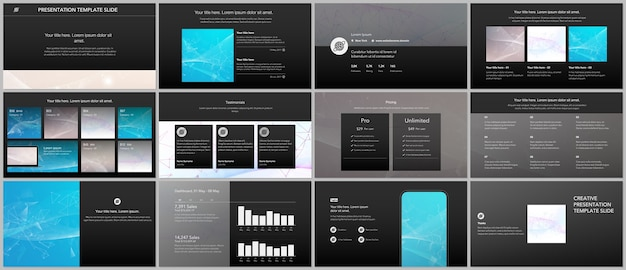 Conjunto de plantillas para sitios web y presentaciones.