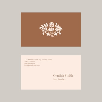 Conjunto de plantillas de tarjeta de nombre femenino