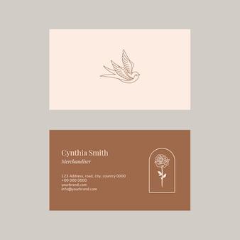 Conjunto de plantillas de tarjeta de visita femenina