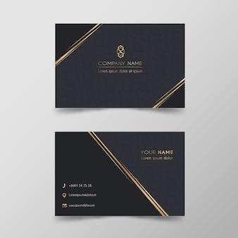 Conjunto de plantillas de tarjeta de visita de lujo