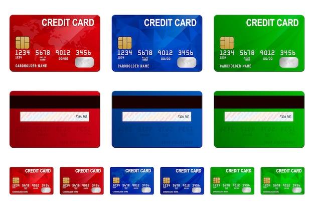 Conjunto de plantillas de tarjetas de crédito