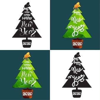 Conjunto de plantillas de tarjetas de felicitación de navidad