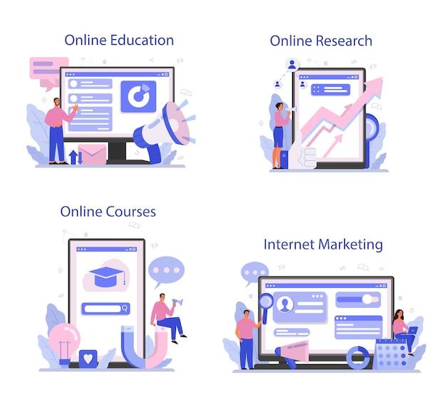 Conjunto de plataforma o servicio en línea de comercializador
