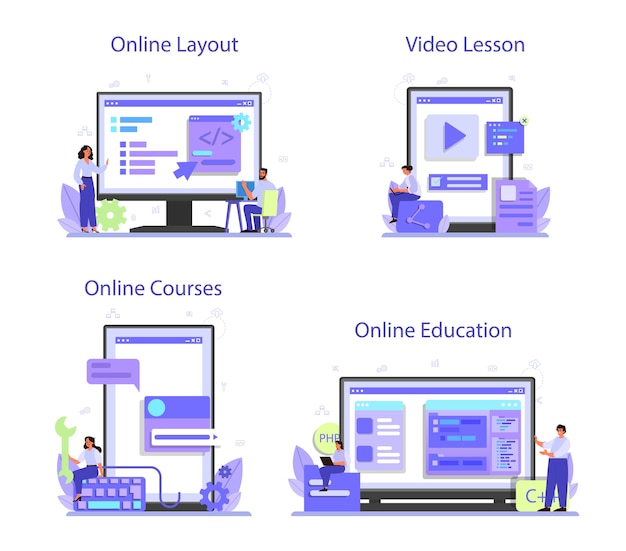 Conjunto de plataforma o servicio en línea de desarrollo back-end