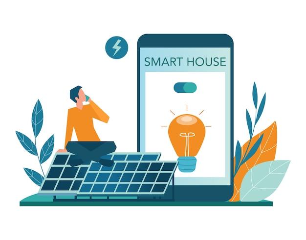Conjunto de plataforma o servicio en línea de energía alternativa