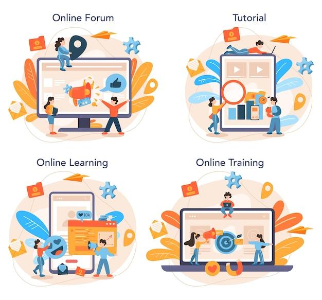 Conjunto de plataforma o servicio en línea especializado en smm
