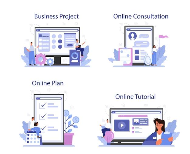 Conjunto de plataforma o servicio en línea de etapa de madurez