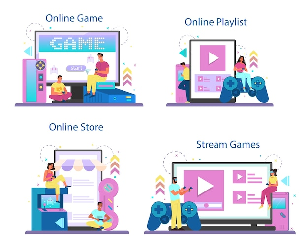 Conjunto de plataforma o servicio en línea para jugadores profesionales