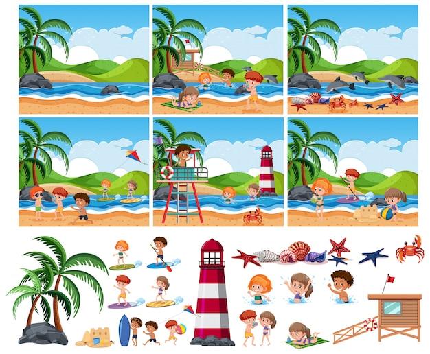 Conjunto de playa de verano