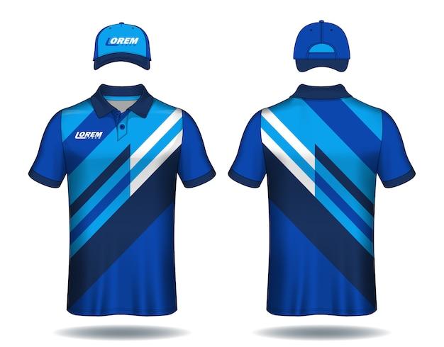 Conjunto de polos y camisas de plantilla uniforme.