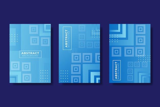 Conjunto de portada abstracta geométrica